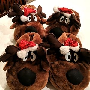 """Fun """"Moose"""" slippers for Christmas"""